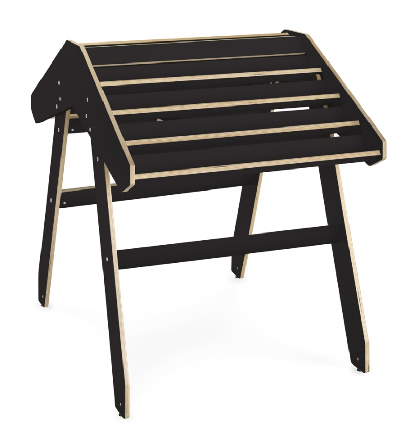 Bokbord Boomerang, svart