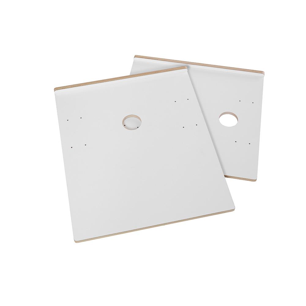 ShowITall bordplate+CPU plate, enkeltsidig, hvit
