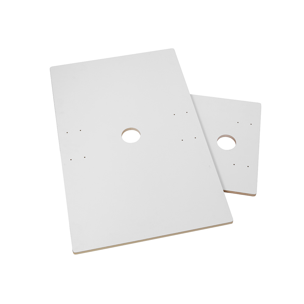 ShowITall bordplate+CPU plate, dobbel, hvit