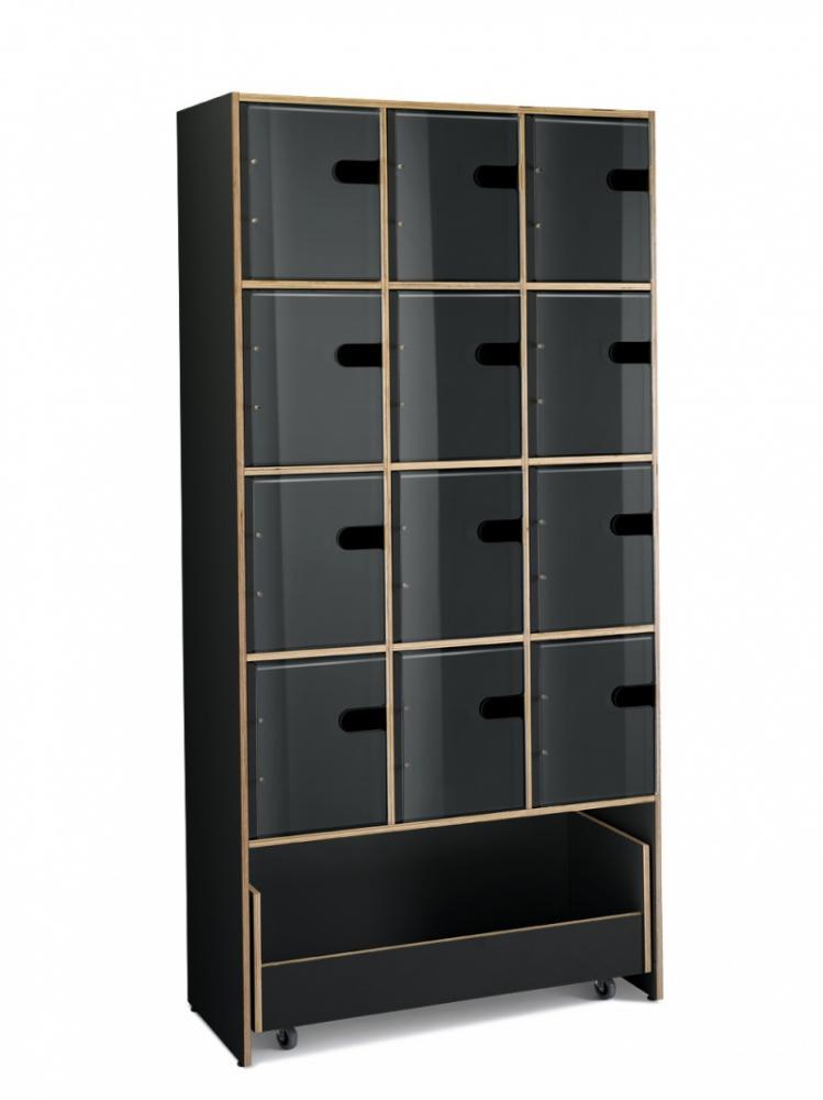 Showandstore 3 x 4 rom, svart