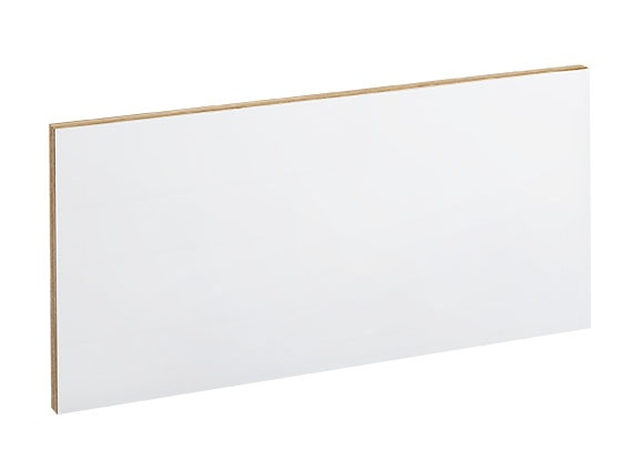 Showandstore sokkelplate, hvit