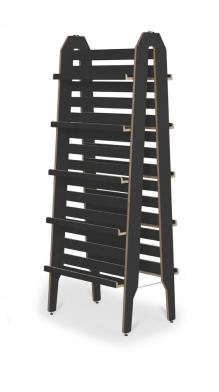 Showalot ladder, dobbel, svart