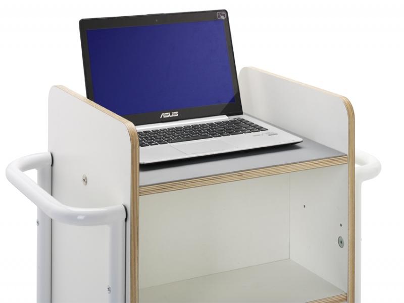 Bokvogn Gotland Plus, Laptop, hvit