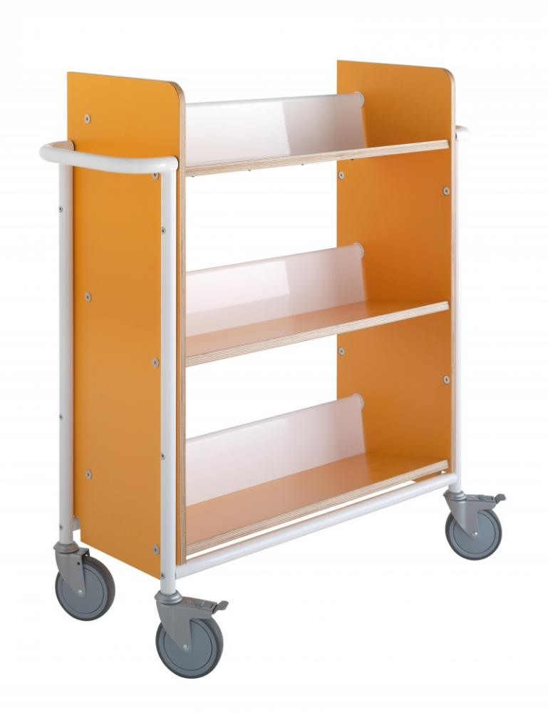 Bokvogn Øland Plus, oransje/hvit