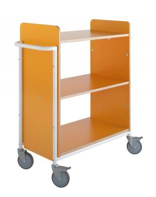 Bokvogn Ven Plus, oransje/hvit