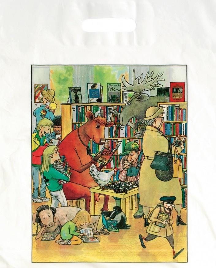Bærepose Biblioteket,ill. Sven Nordqvist, 500 stk.