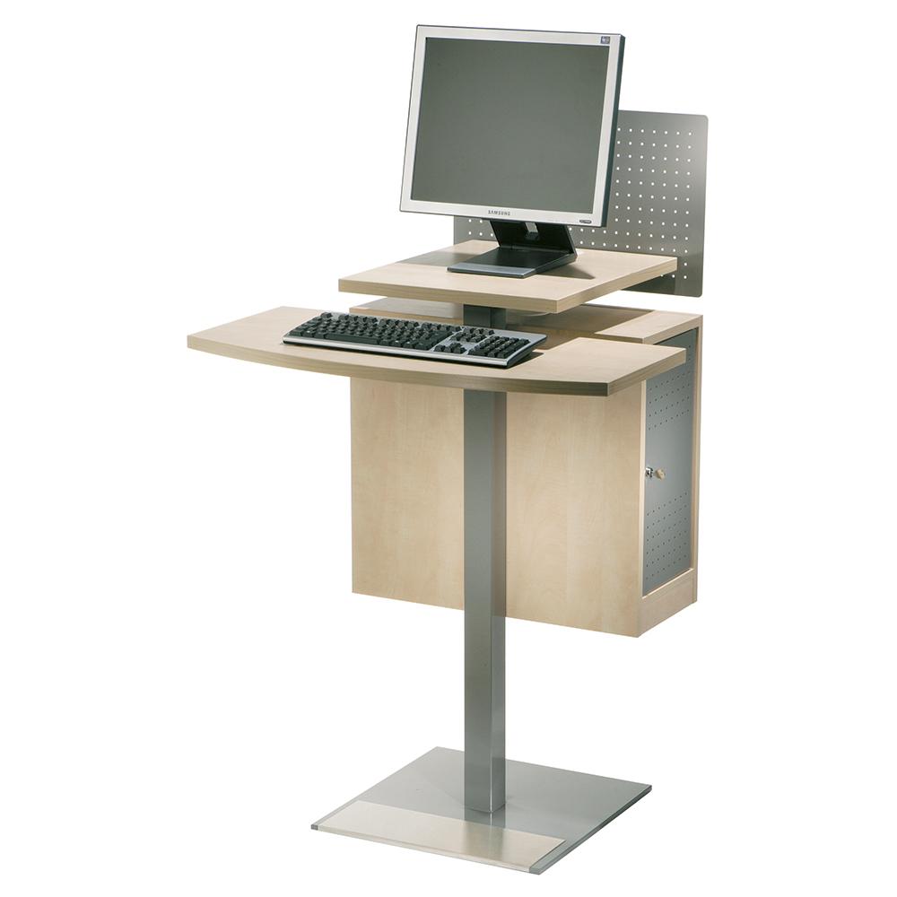 Opac ståbord med CPU boks