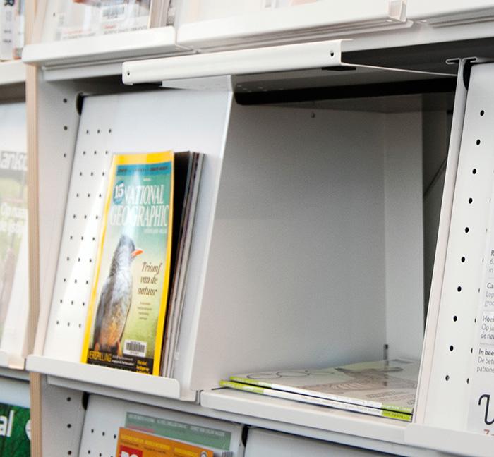 Tidsskriftboks SP, hvit, 2 stk.