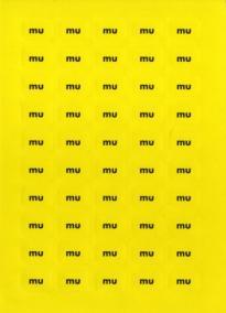 Etikett u (6.+7.klasse), gule, 100 stk.