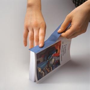 Tekstiltape m/dekkpapir 3cmx10m,blå