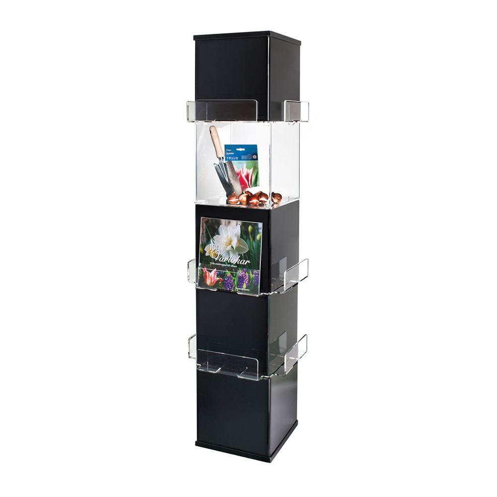 Cube eksponeringstårn, svart/klar