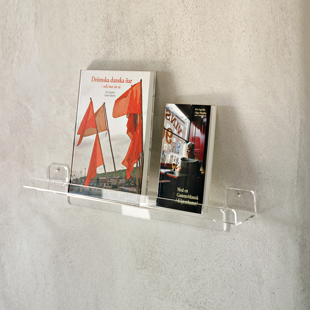 Cube vegglist m/oppkant, B60 cm