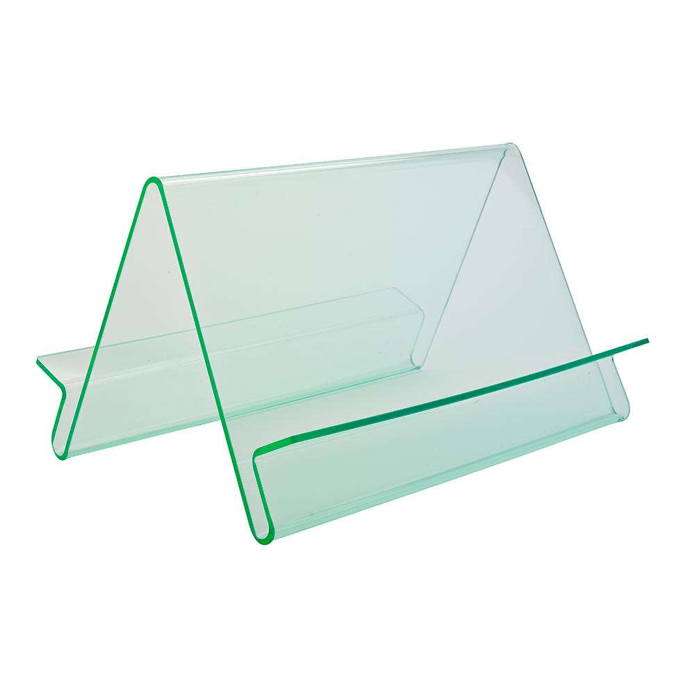 Skråhylle Wave, dobbeltsidig, glass look