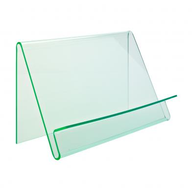 Skråhylle Wave, enkeltsidig, glass look