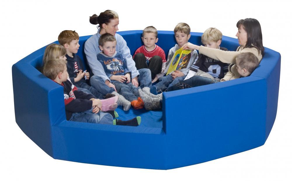 Sittebinge Emil 12-14 barn Ø230, blå