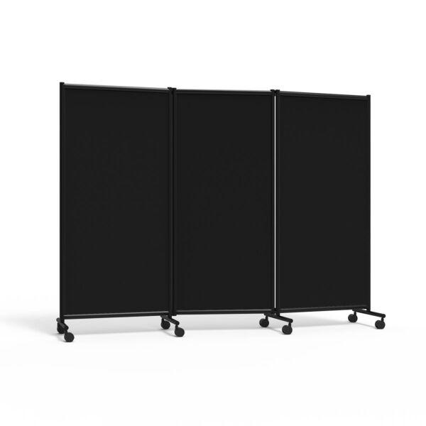 Utstillingsskjerm One, 3-delt, sort/sort