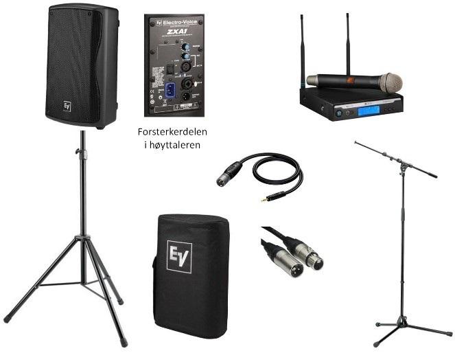 Lydanleggspakke med trådløs mikrofon