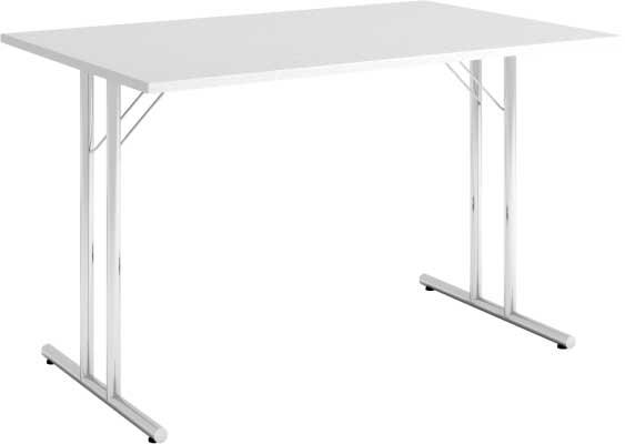 Bord, sammenleggb. 120 x 80, LETT, lys grå