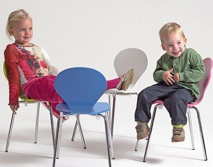 Stol Rondo Kids, sh. 34 cm, lakk. standardfarge