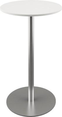 Ståbord Ø70 x H110 cm, lys grå plate/krom