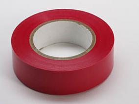 Merketape 15 mm x 10 m, rød