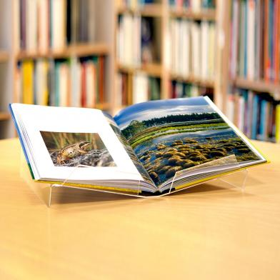 Bokstativ for oppslått bok A4, 2 stk.