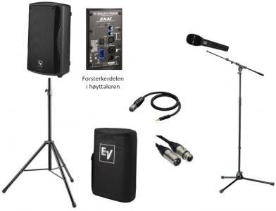 Lydanleggspakke med kablet mikrofon
