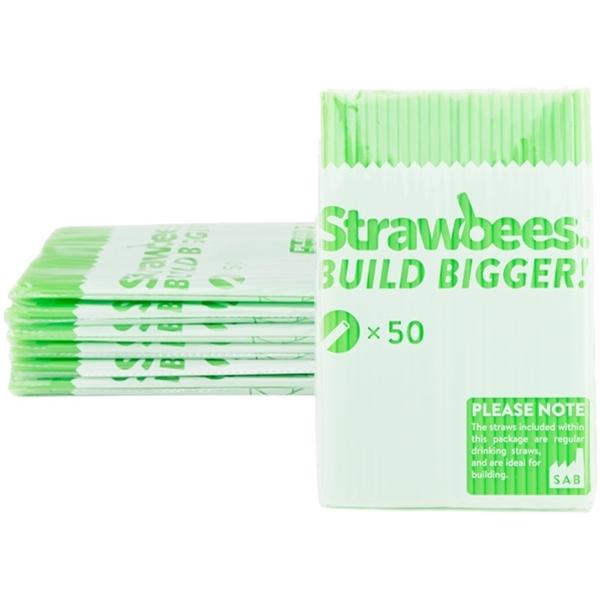 Strawbees sugerør, grønne, 50 stk.