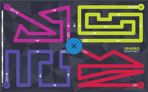 Sphero labyrintmatte, aktivitetsmatte 2