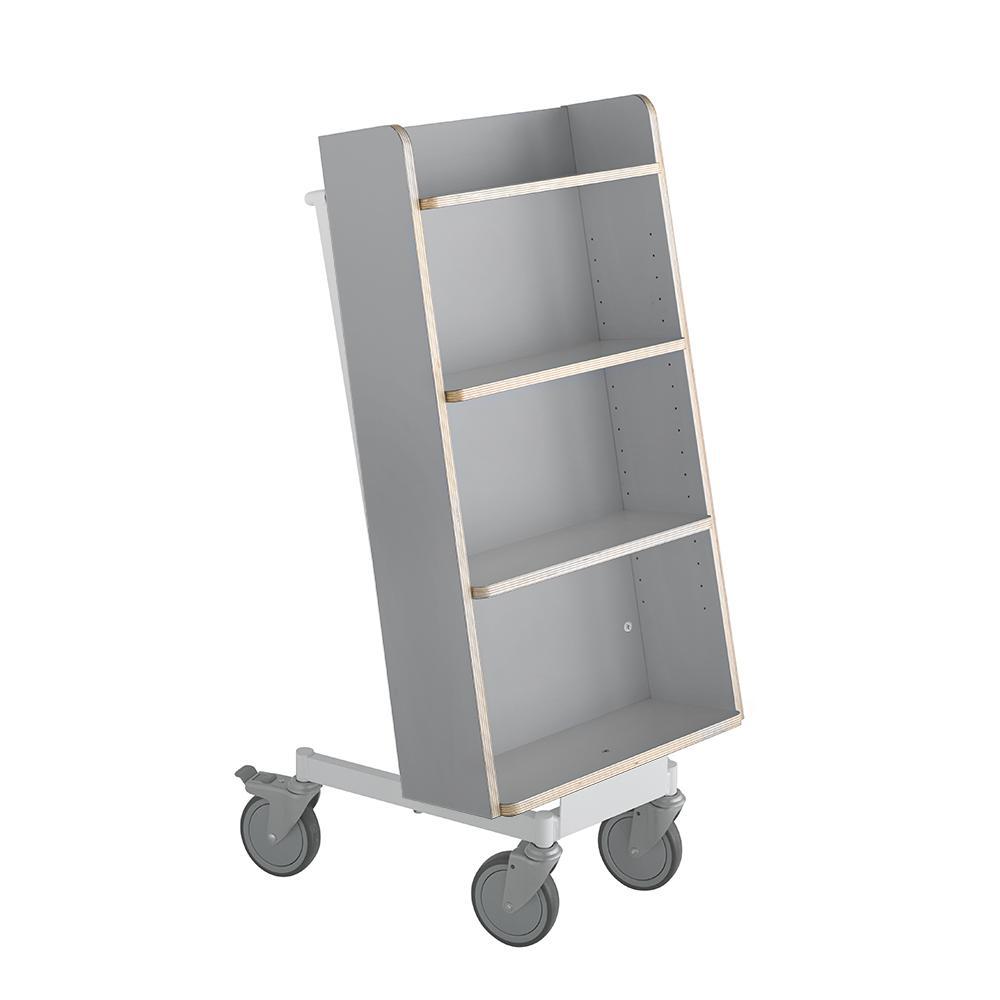 Bokvogn Halland Plus, grå/hvit
