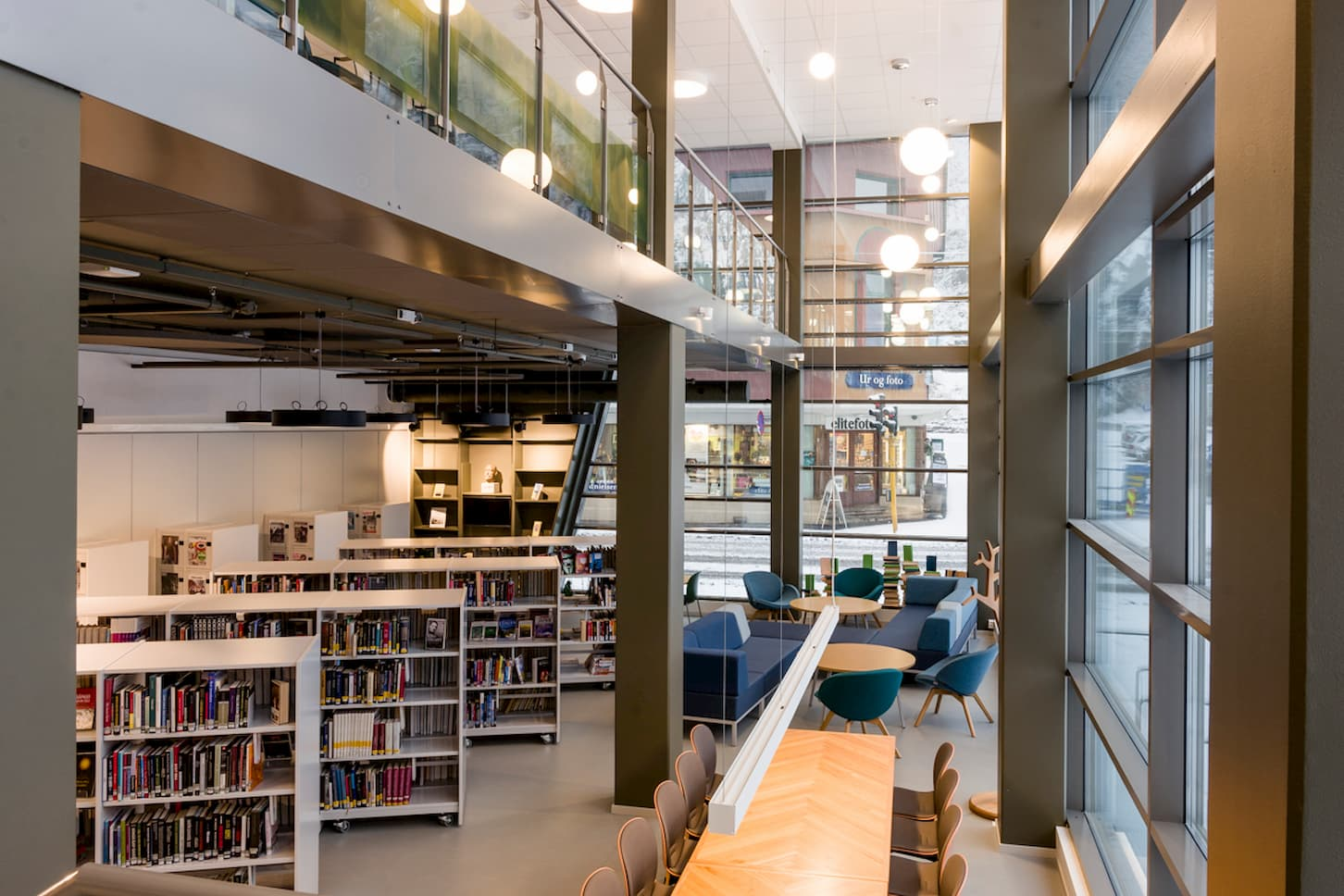 Interiør Holmestrand Bibliotek