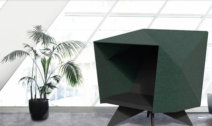 Sittehule HabiCave grønn dansk design